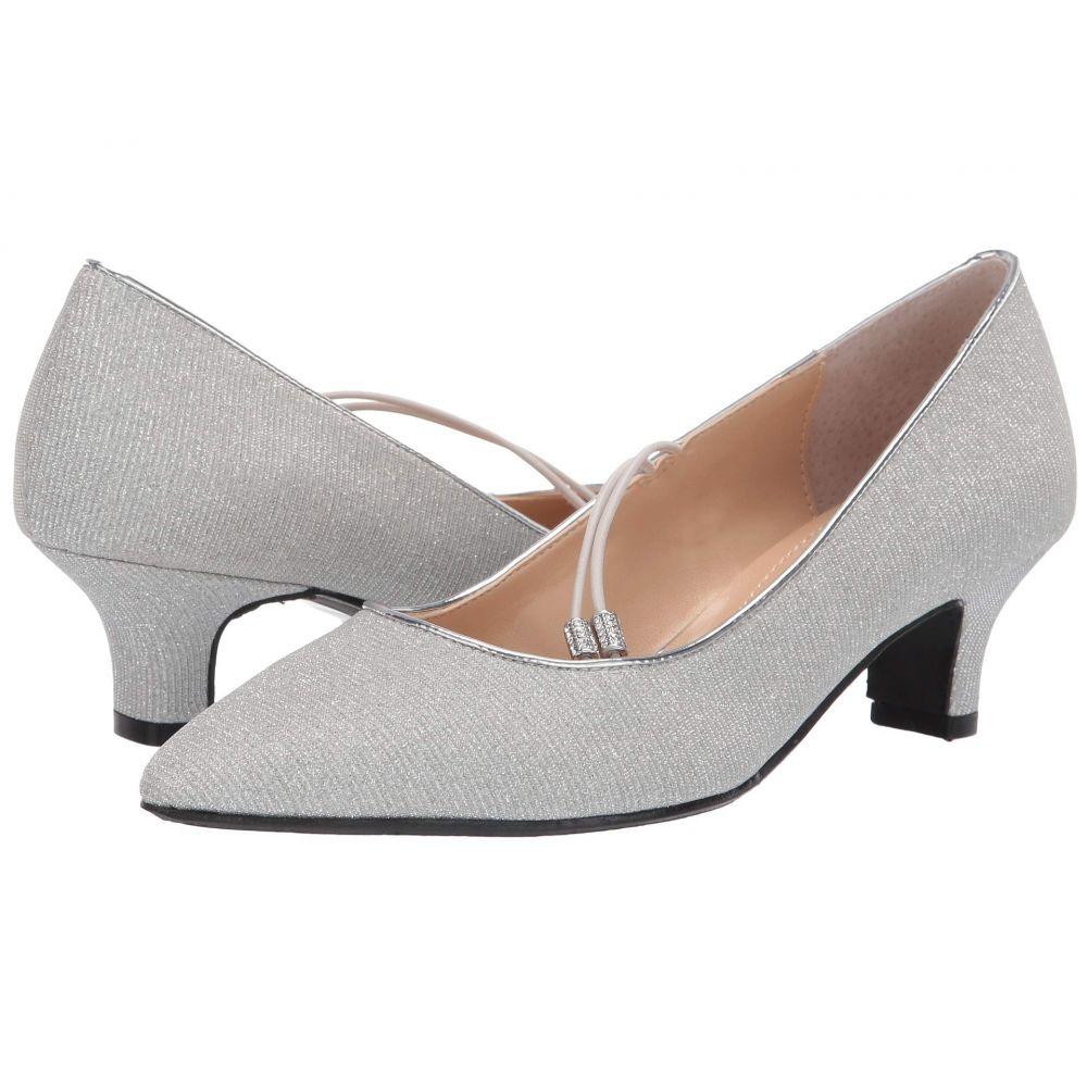 ジェイレニー J. Renee レディース ヒール シューズ・靴【Idenah】Silver Glitter Fabric