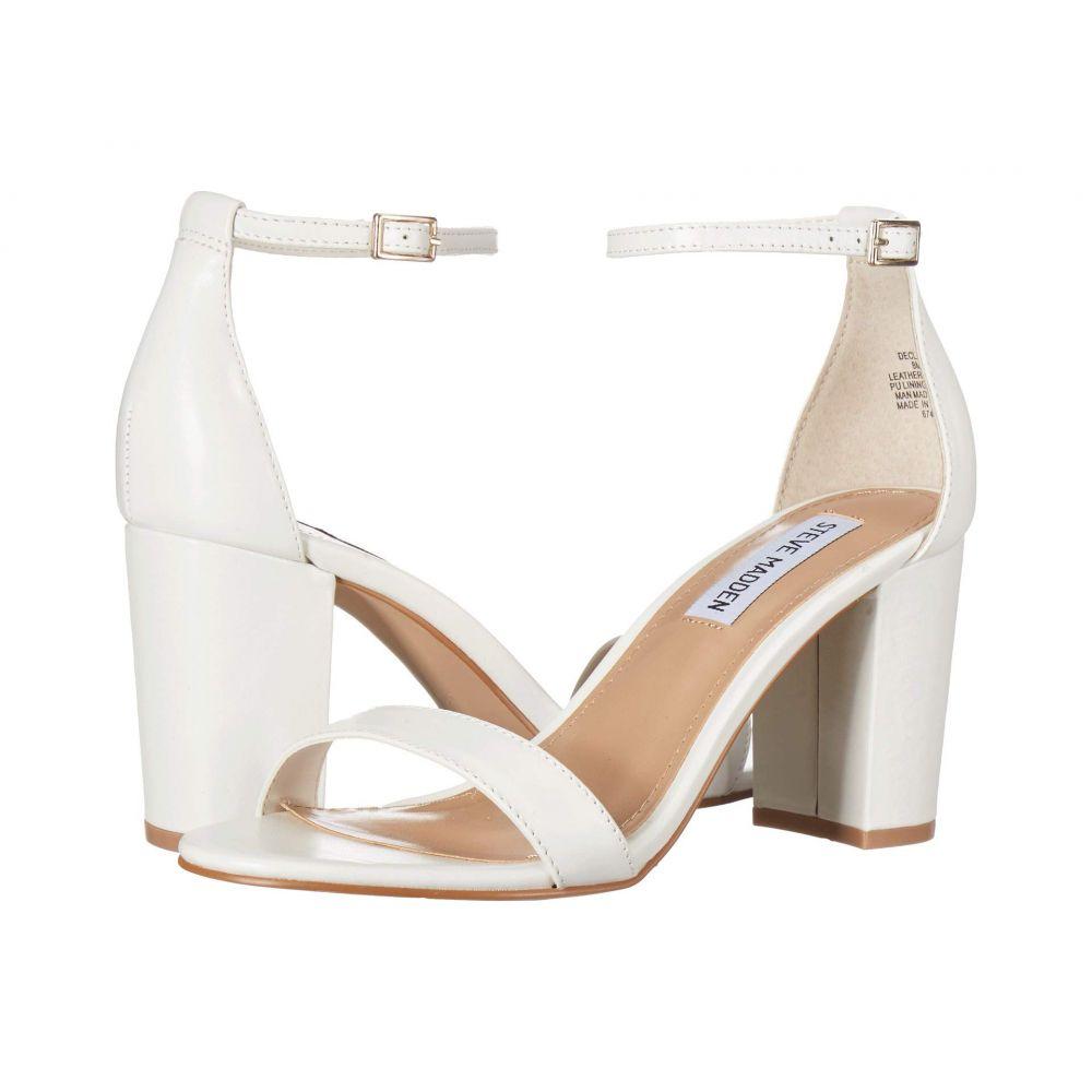 スティーブ マデン Steve Madden レディース サンダル・ミュール シューズ・靴【Exclusive - Declair Block Heeled Sandal】White Leather