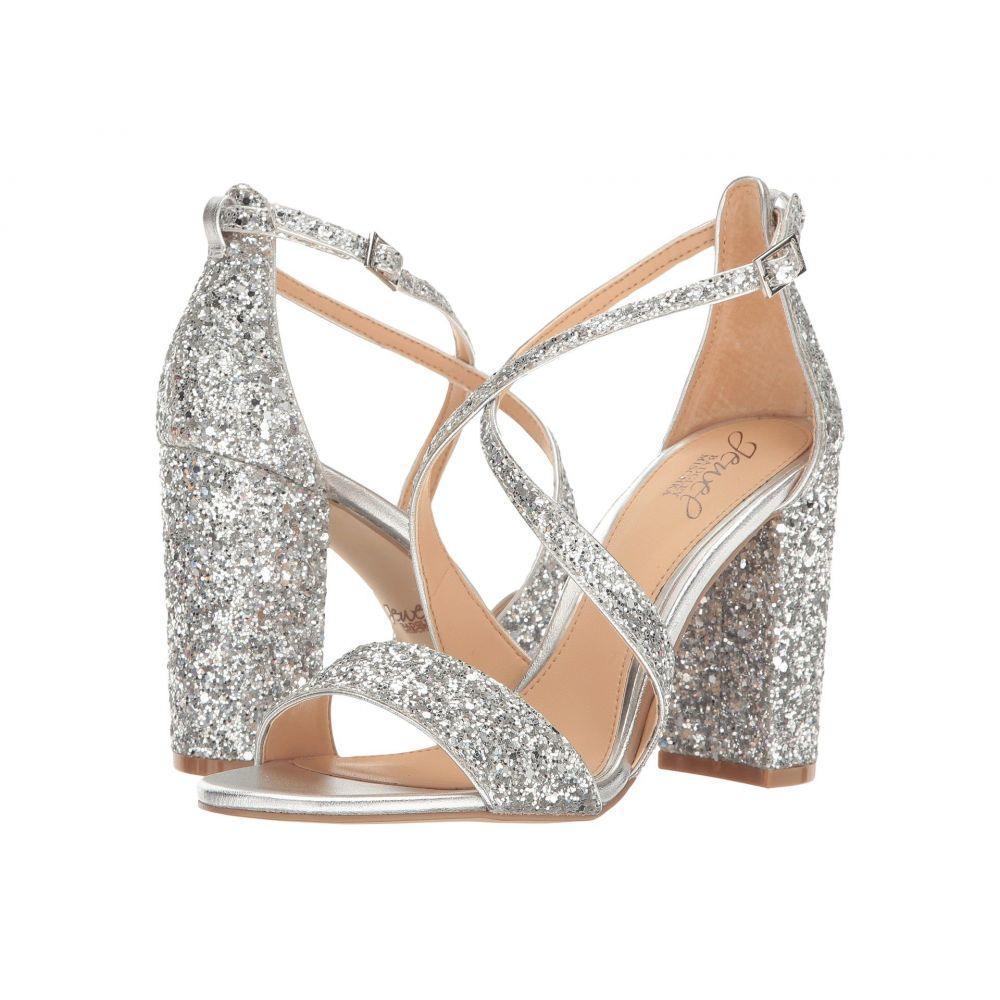 バッジェリー ミシュカ Jewel Badgley Mischka レディース ヒール シューズ・靴【Cook】Silver Glitter