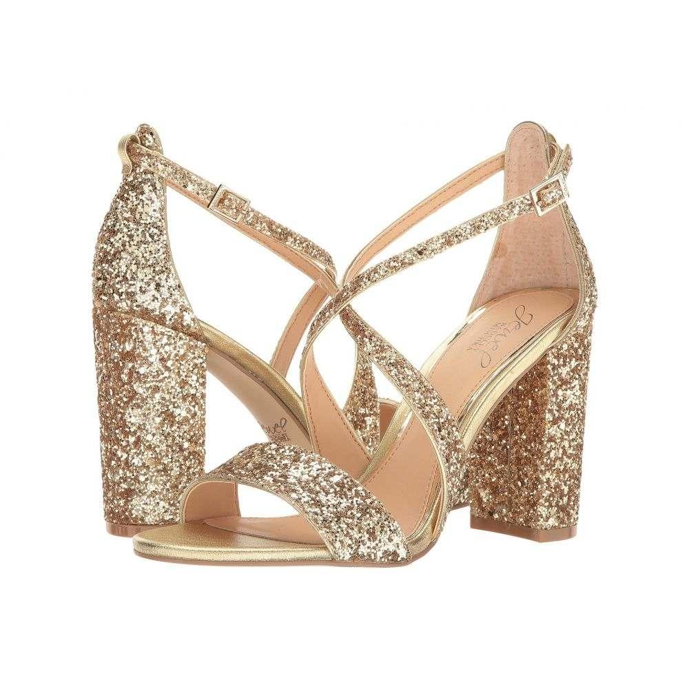 バッジェリー ミシュカ Jewel Badgley Mischka レディース ヒール シューズ・靴【Cook】Gold Glitter