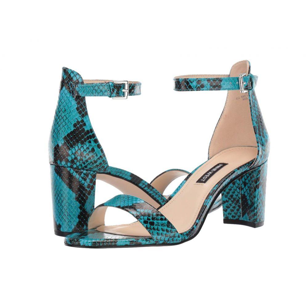 ナインウェスト Nine West レディース サンダル・ミュール シューズ・靴【Pruce Block Heeled Sandal】Aqua