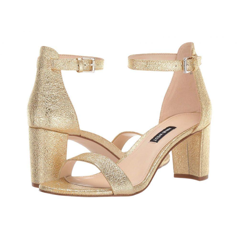 ナインウェスト Nine West レディース サンダル・ミュール シューズ・靴【Pruce Block Heeled Sandal】Gold