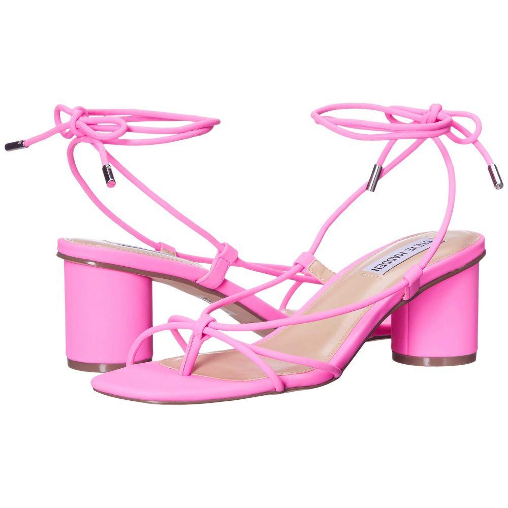 スティーブ マデン Steve Madden レディース サンダル・ミュール シューズ・靴【Ivanna Heeled Sandal】Pink Neon