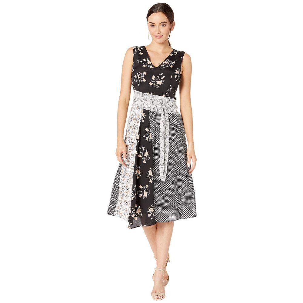 カルバンクライン Calvin Klein レディース ワンピース Vネック ワンピース・ドレス【V-Neck Dress with Tie Belt】Multi Combo