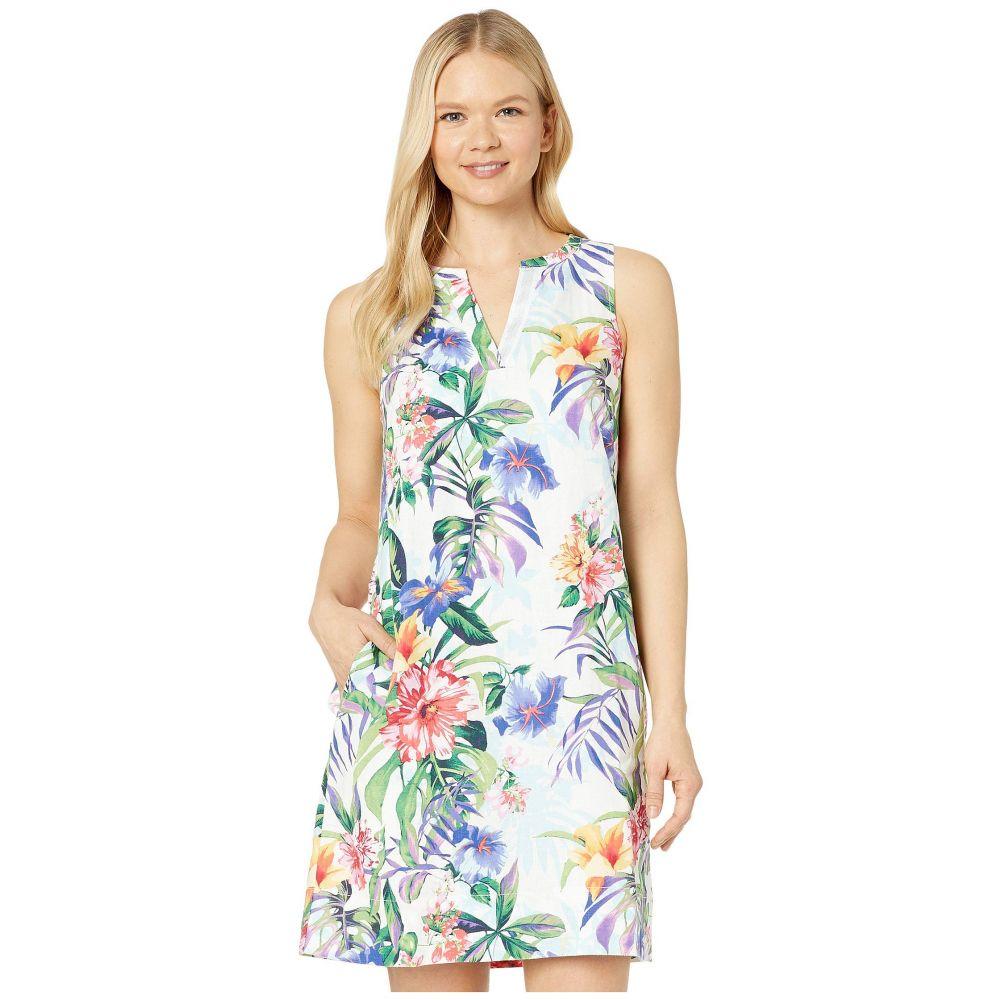 トミー バハマ Tommy Bahama レディース ワンピース ワンピース・ドレス【Hermosa Flora Linen Dress】White