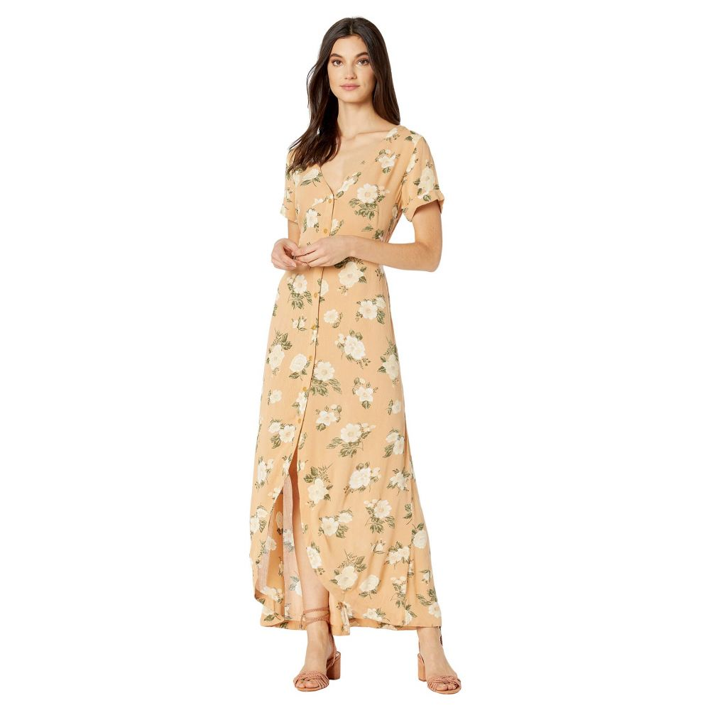 ボルコム Volcom レディース ワンピース ワンピース・ドレス【I Stay You Go Short Sleeve Dress】Vintage Gold