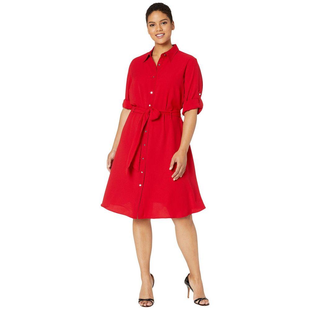 ラルフ ローレン LAUREN Ralph Lauren レディース ワンピース 大きいサイズ シャツワンピース ワンピース・ドレス【Plus Size Fit-and-Flare Shirtdress】Lipstick Red
