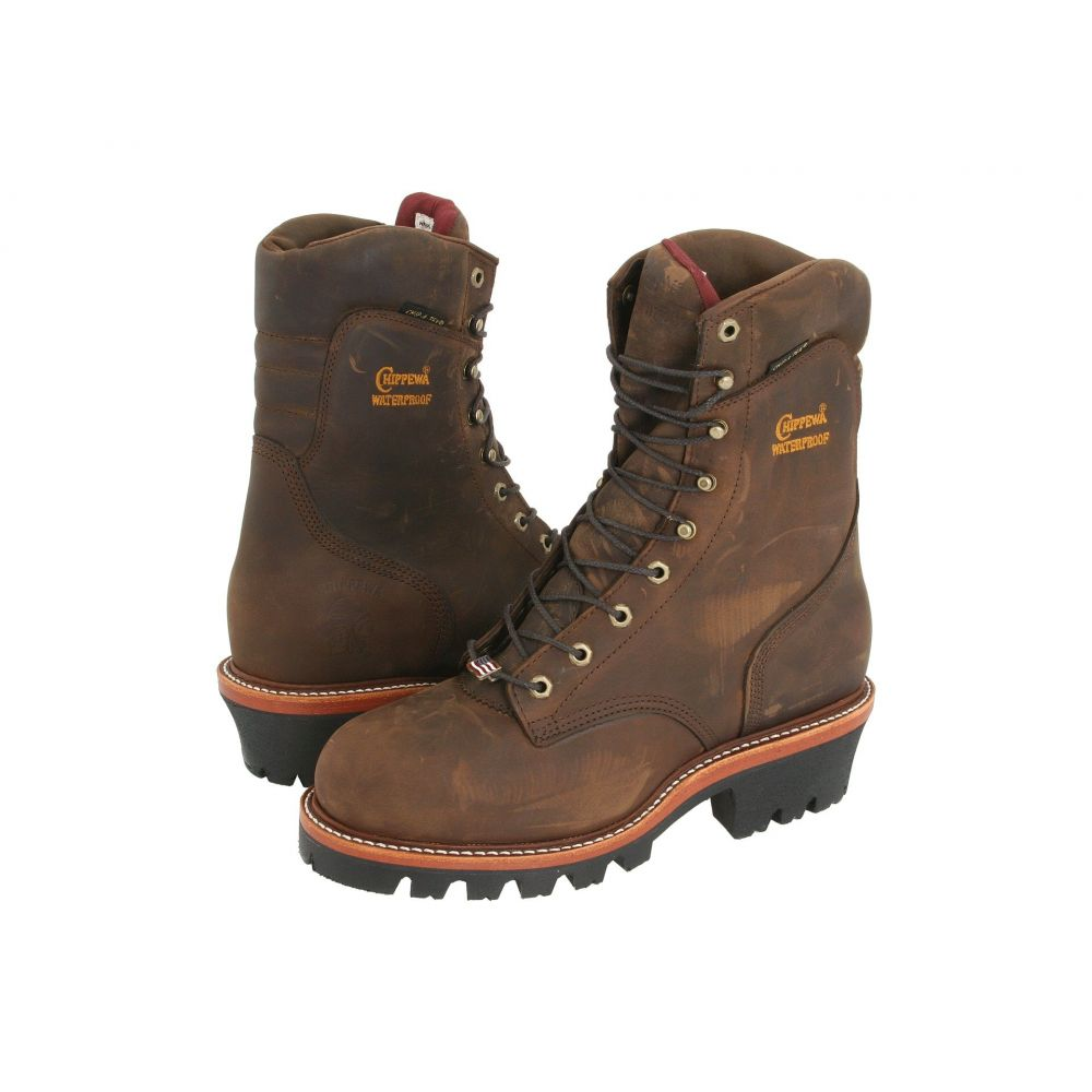 チペワ Chippewa メンズ ブーツ シューズ・靴【9' Waterproof Insulated Super Logger】Bay Apache