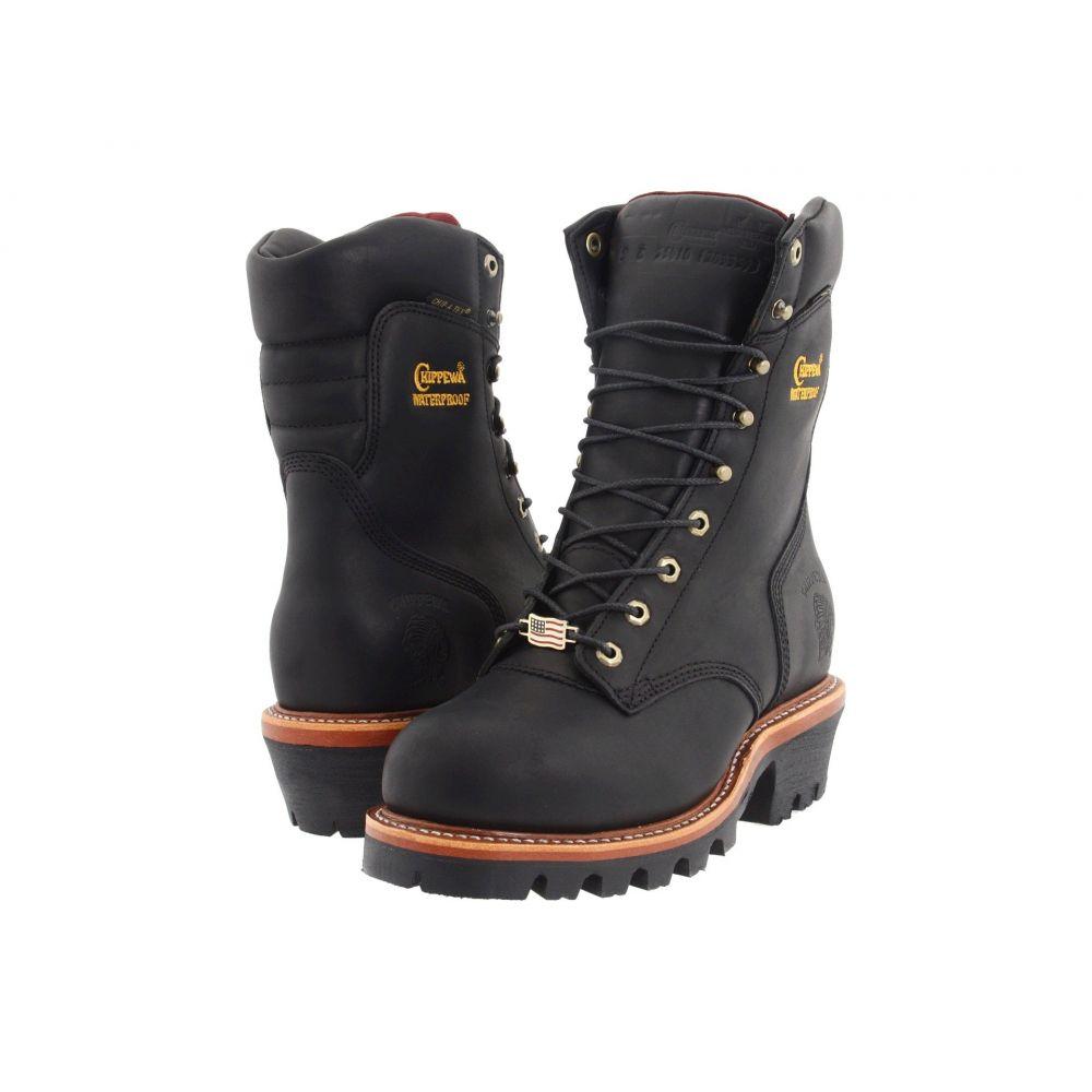 チペワ Chippewa メンズ ブーツ シューズ・靴【9' Waterproof Insulated Super Logger】Black Oiled