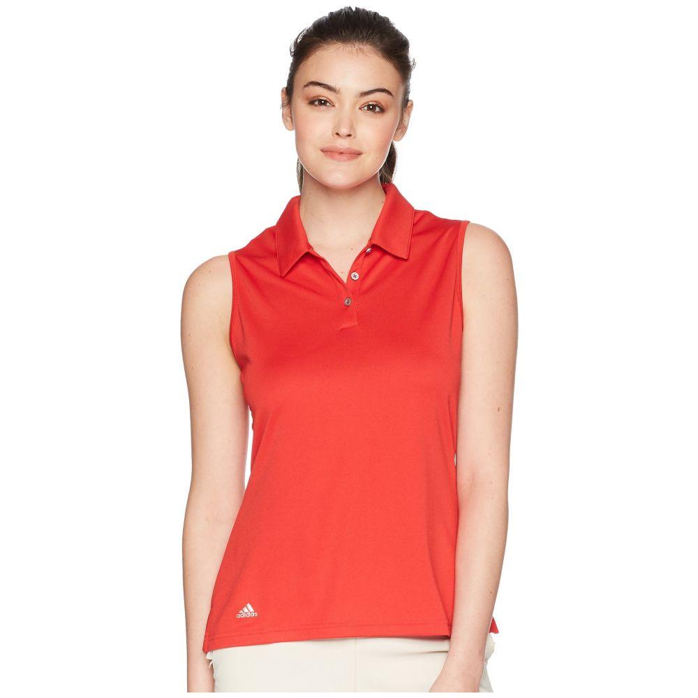 アディダス adidas Golf レディース ノースリーブ ポロシャツ トップス【Performance Sleeveless Polo】Collegiate Red