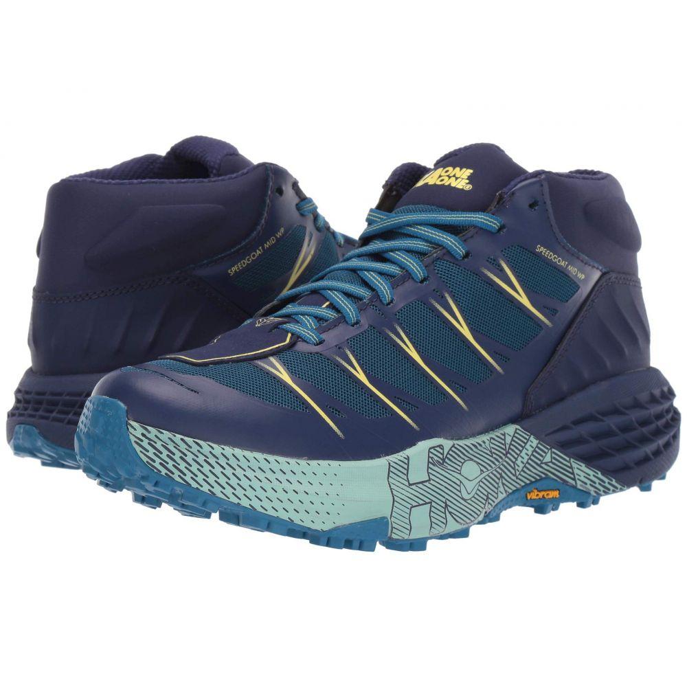 ホカ オネオネ Hoka One One レディース ランニング・ウォーキング シューズ・靴【Speedgoat Mid WP】Seaport/Medieval Blue