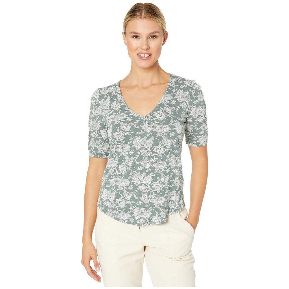 ラッキーブランド Lucky Brand レディース Tシャツ Vネック トップス【Short Sleeve V-Neck Top】Green Multi
