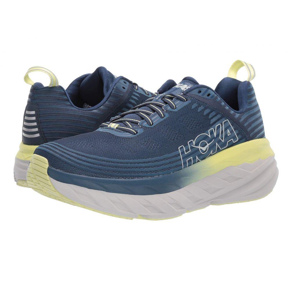 ホカ オネオネ Hoka One One レディース ランニング・ウォーキング シューズ・靴【Bondi 6】Ensign Blue/Lime Sherbet