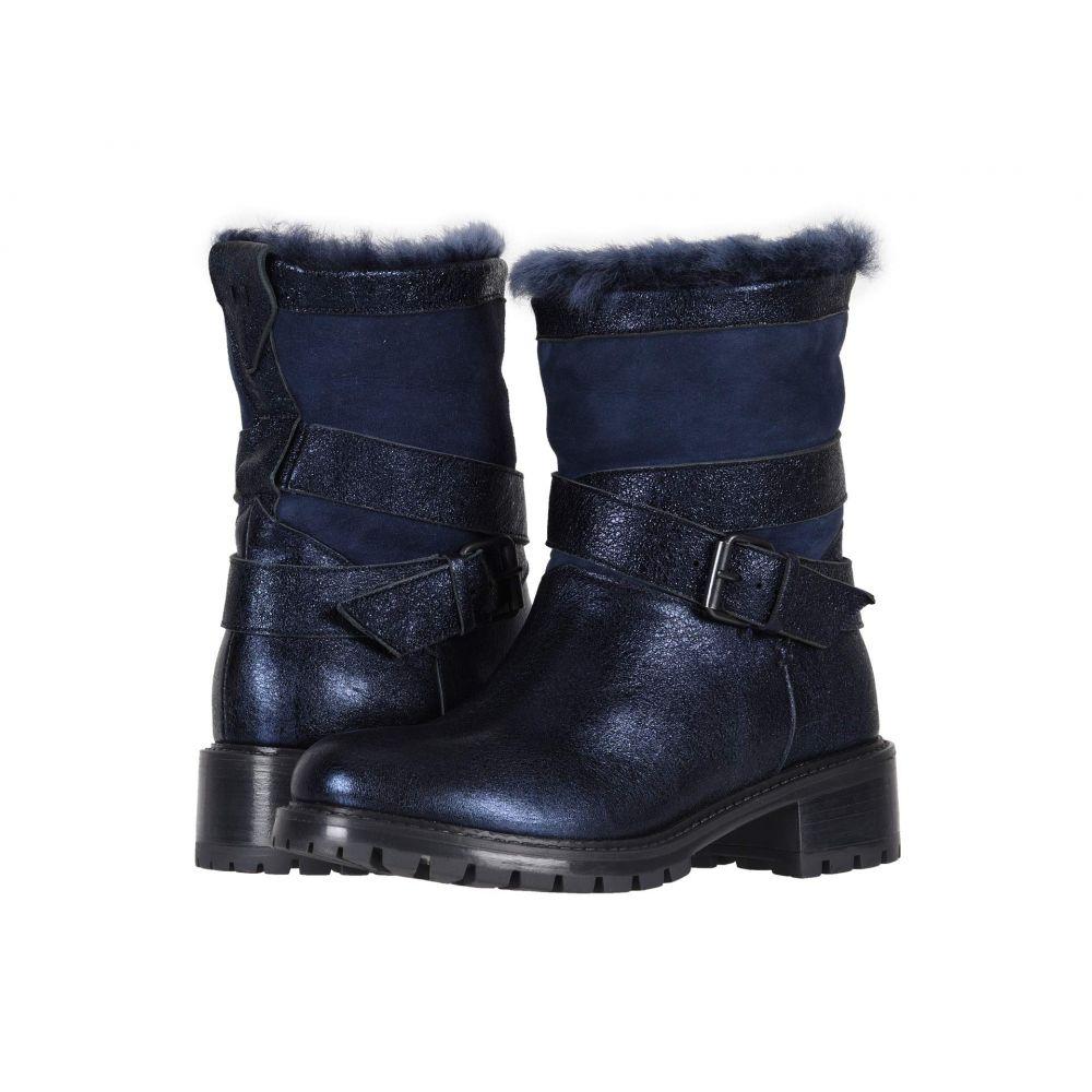ロス & スノー Ross & Snow レディース ブーツ シューズ・靴【Emilina SP Moto Boot】Metallic Indigo