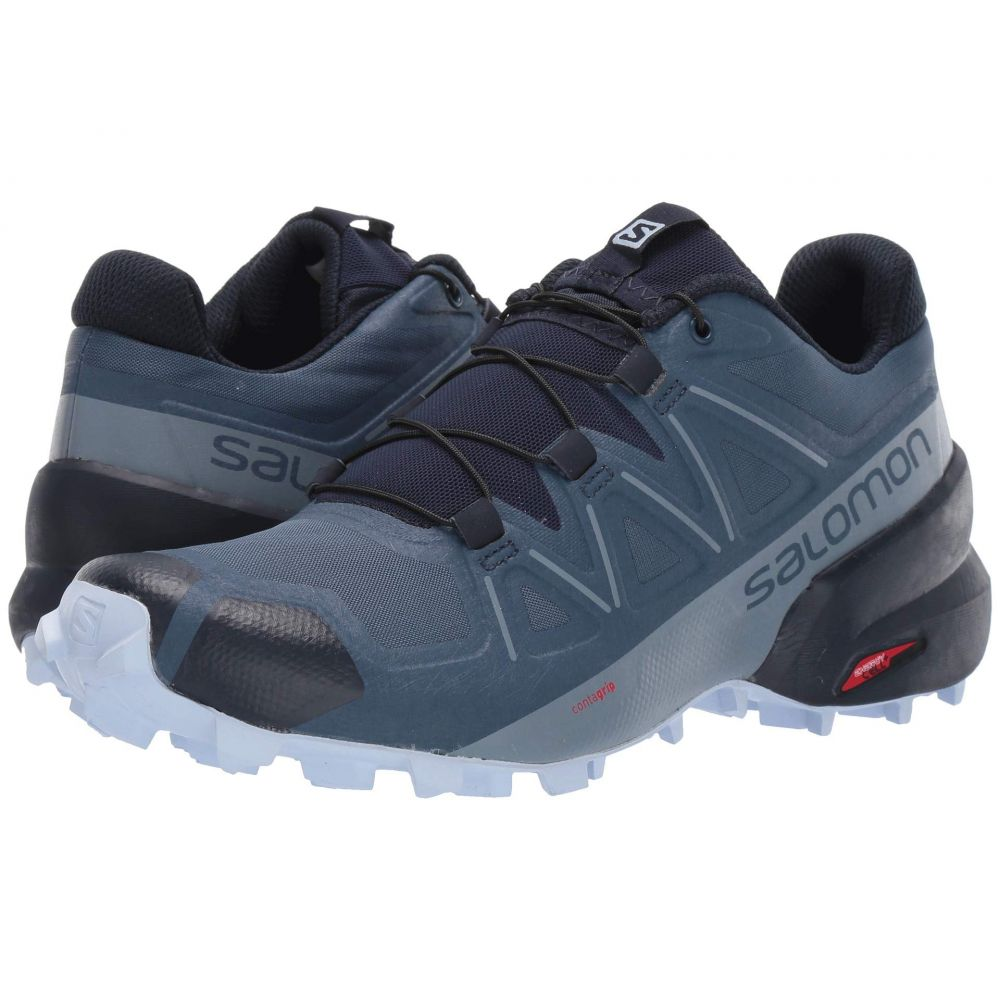サロモン Salomon レディース ランニング・ウォーキング シューズ・靴【Speedcross 5】Sargasso Sea/Navy Blazer/Heather