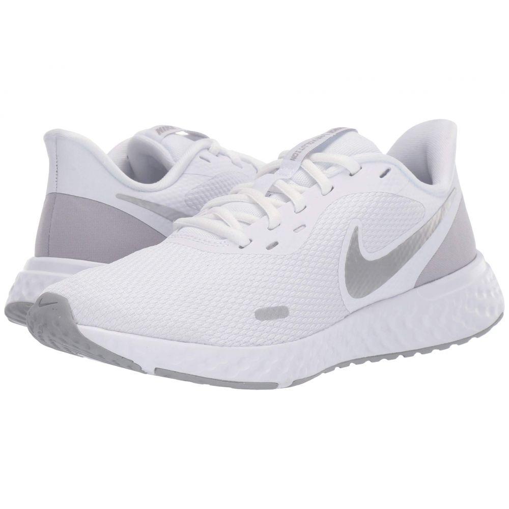 ナイキ Nike レディース ランニング・ウォーキング シューズ・靴【Revolution 5】White/Wolf Grey/Pure Platinum