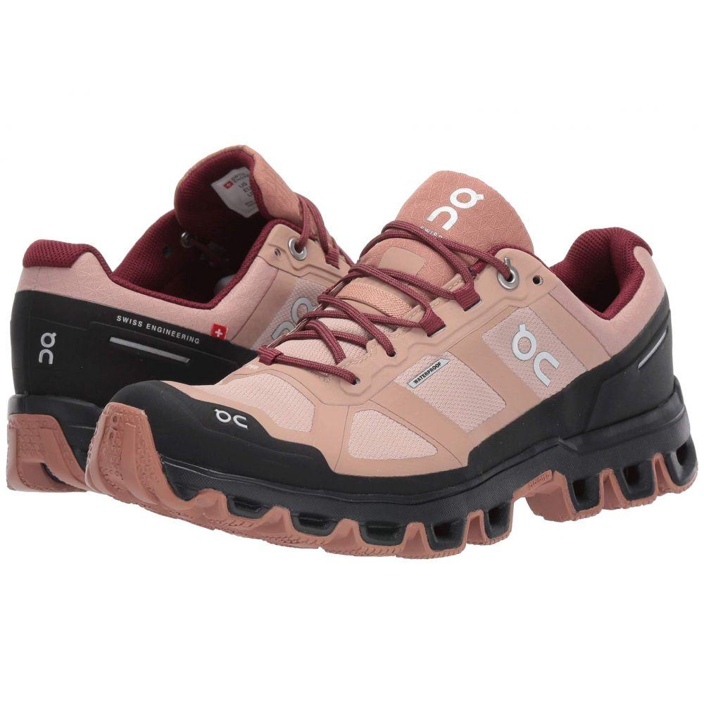オン On レディース ランニング・ウォーキング シューズ・靴【Cloudventure Waterproof】Rose Brown/Mulberry