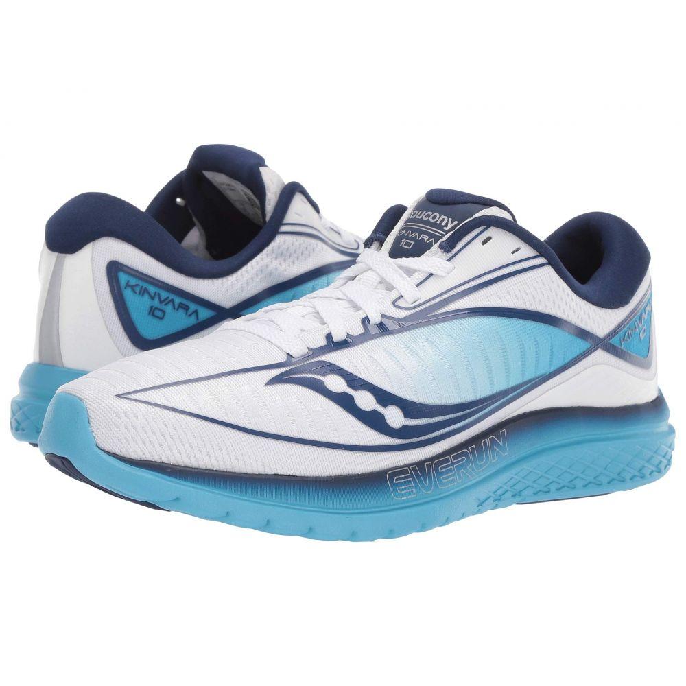 サッカニー Saucony レディース ランニング・ウォーキング シューズ・靴【Kinvara 10】White/Blue