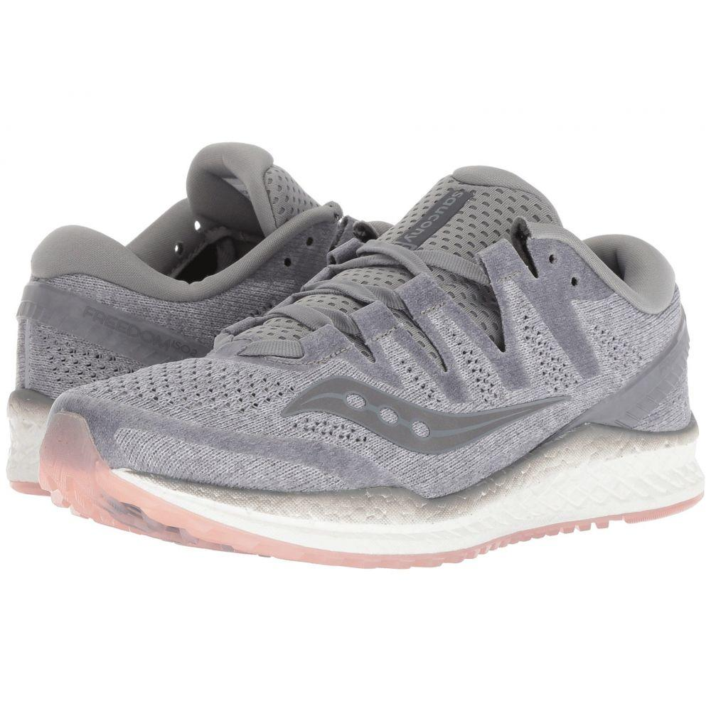 サッカニー Saucony レディース ランニング・ウォーキング シューズ・靴【Freedom ISO】Grey/Peach