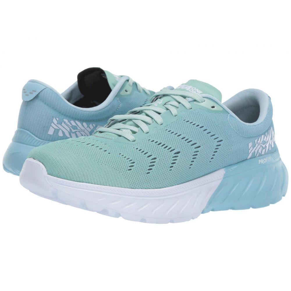 ホカ オネオネ Hoka One One レディース ランニング・ウォーキング シューズ・靴【Mach 2】Aquamarine/Lichen