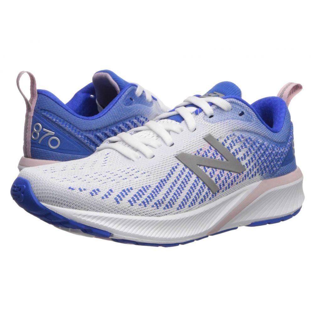 ニューバランス New Balance レディース ランニング・ウォーキング シューズ・靴【870v5】White/Vivid Cobalt