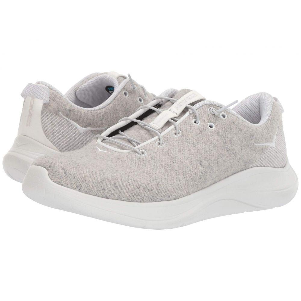 ホカ オネオネ Hoka One One レディース ランニング・ウォーキング シューズ・靴【Hupana Flow Wool】Lunar Rock/Blanc De Blanc