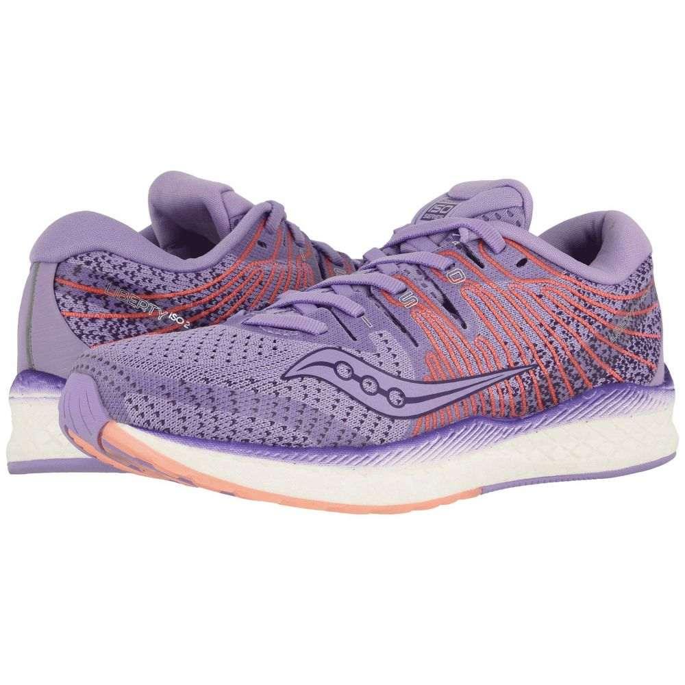 サッカニー Saucony レディース ランニング・ウォーキング シューズ・靴【Liberty ISO 2】Purple/Peach