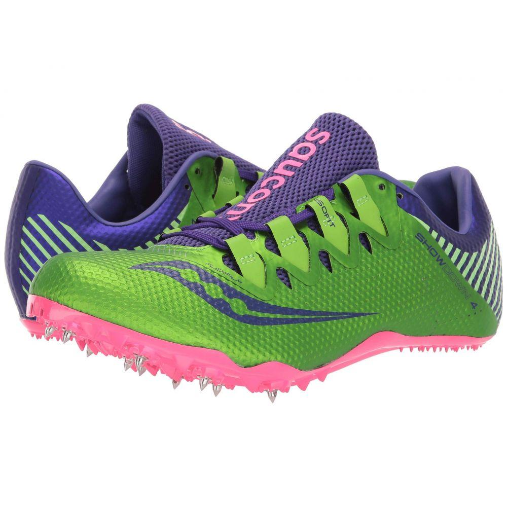 サッカニー Saucony レディース ランニング・ウォーキング シューズ・靴【Showdown 4】Slime/Purple