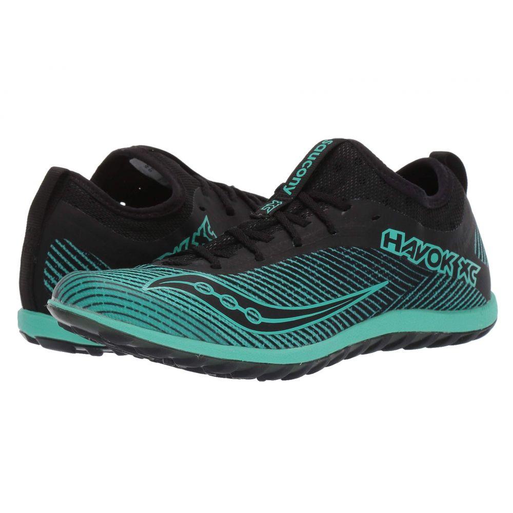 サッカニー Saucony レディース ランニング・ウォーキング シューズ・靴【Havok XC2 Flat】Black/Green