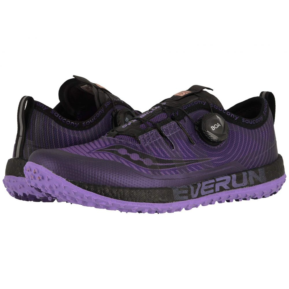 サッカニー Saucony レディース ランニング・ウォーキング シューズ・靴【Switchback ISO】Purple/Black