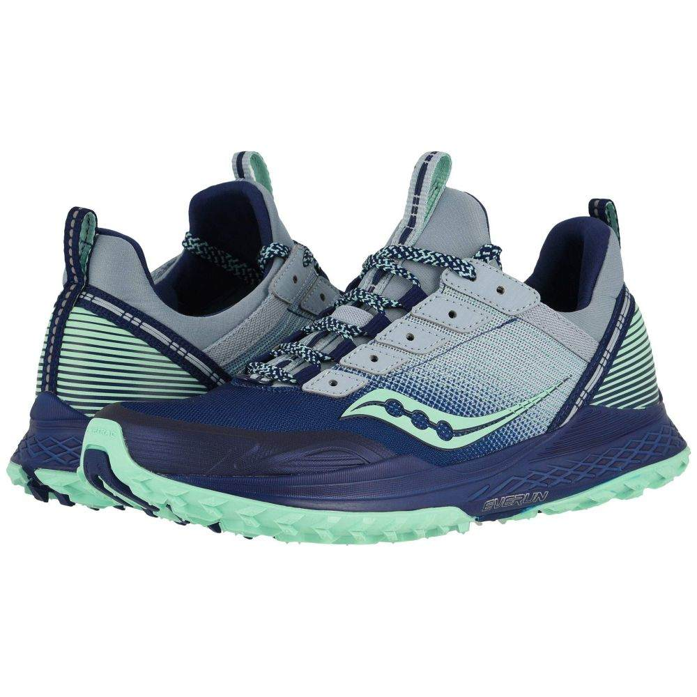 サッカニー Saucony レディース ランニング・ウォーキング シューズ・靴【Mad River TR】Blue/Navy