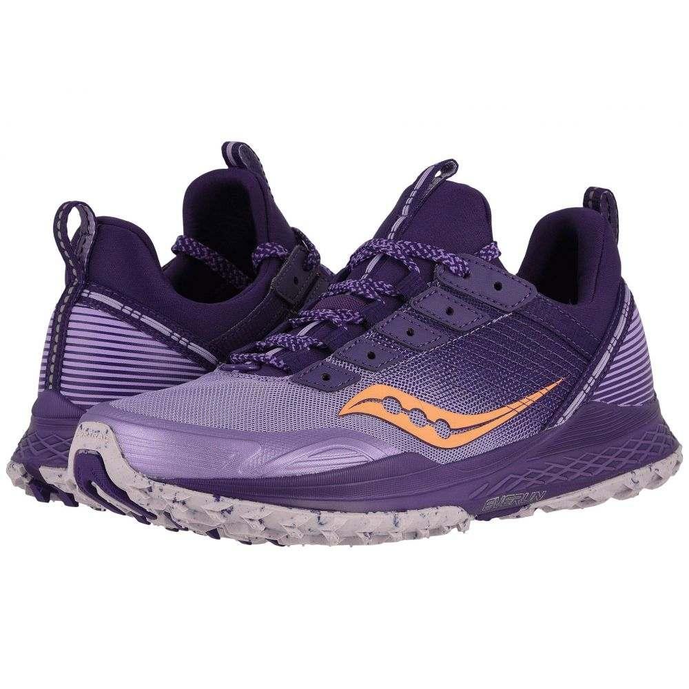 サッカニー Saucony レディース ランニング・ウォーキング シューズ・靴【Mad River TR】Purple/Peach