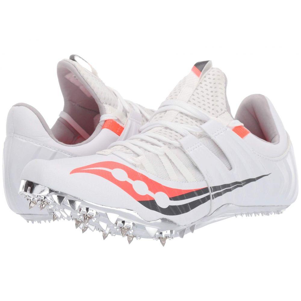 サッカニー Saucony レディース ランニング・ウォーキング シューズ・靴【Showdown 5】White/Vizi Red