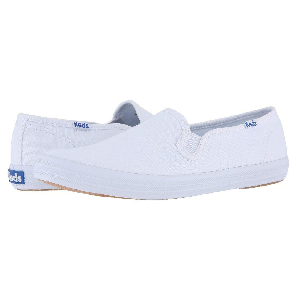 ケッズ Keds レディース スリッポン・フラット シューズ・靴【Champion-Canvas Slip-On】White Canvas