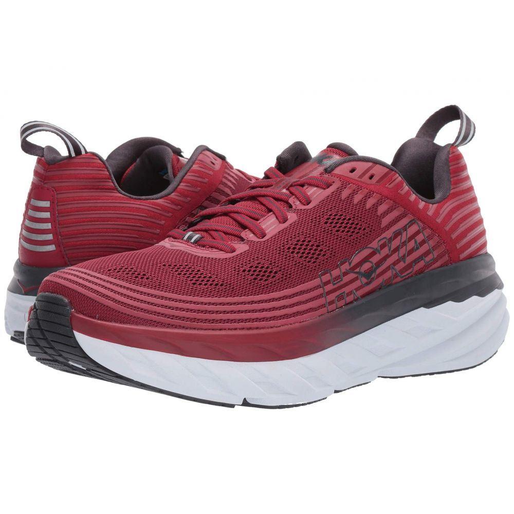 ホカ オネオネ Hoka One One メンズ ランニング・ウォーキング シューズ・靴【Bondi 6】Rio Red/Obsidian
