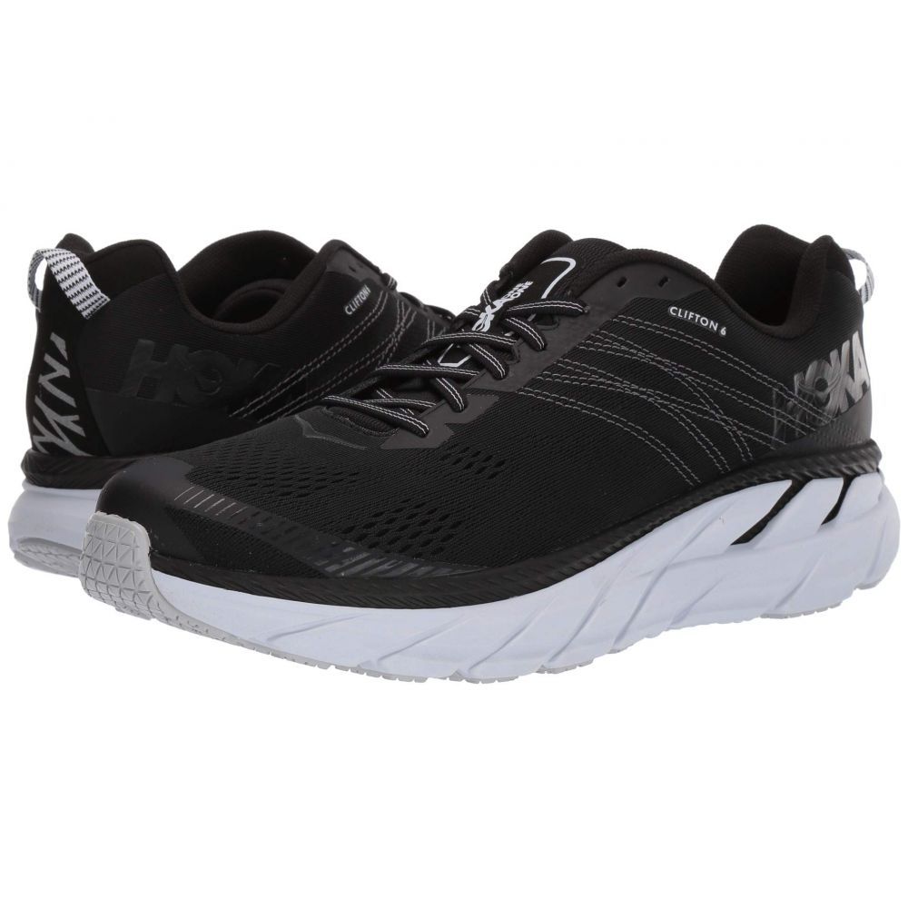 ホカ オネオネ Hoka One One メンズ ランニング・ウォーキング シューズ・靴【Clifton 6】Black/White