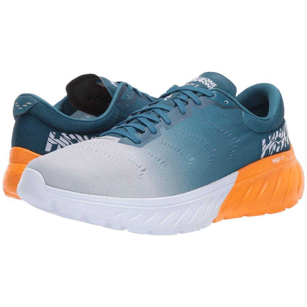 ホカ オネオネ Hoka One One メンズ ランニング・ウォーキング シューズ・靴【Mach 2】Corsair Blue/Bright Marigold