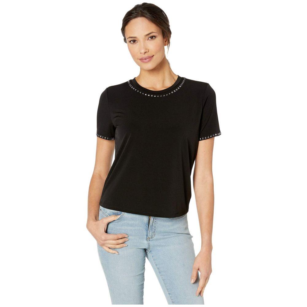 マイケル コース MICHAEL Michael Kors レディース Tシャツ トップス【Stud Short Sleeve T-Shirt】Black