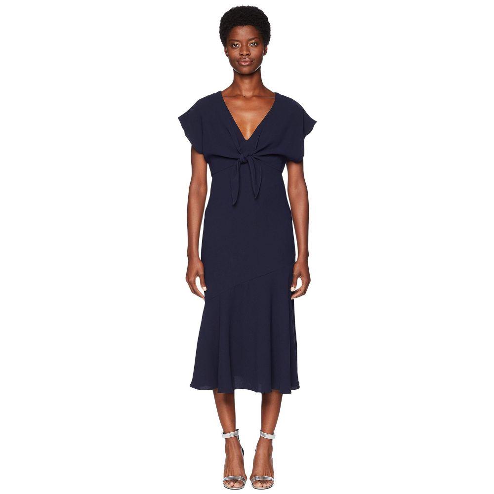 モニーク ルイリエ ML Monique Lhuillier レディース ワンピース ワンピース・ドレス【Tie Front Crepe Dress】Navy