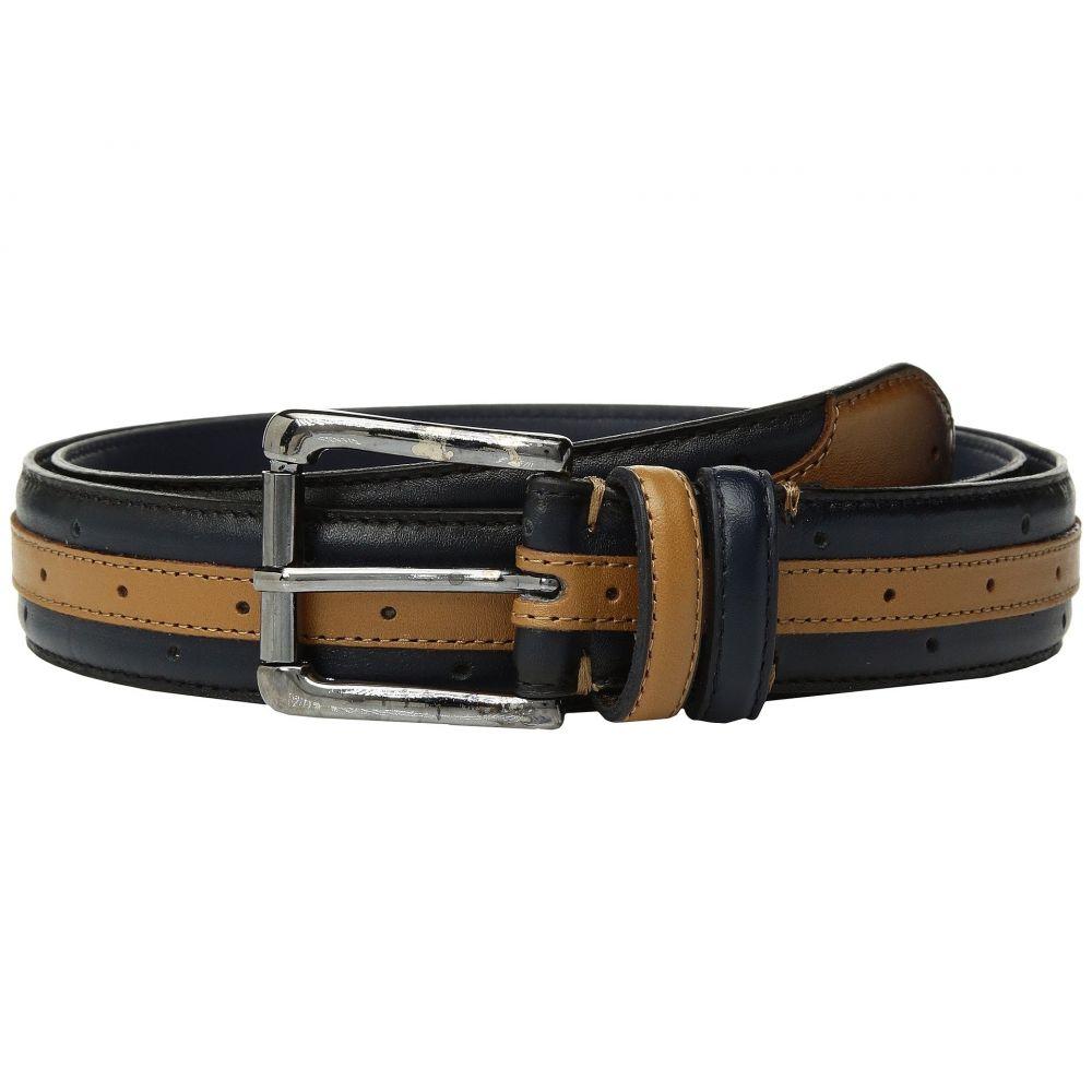 ステイシー アダムス Stacy Adams メンズ ベルト 【Drexler 33mm Genuine Leather Belt】Navy/Tan