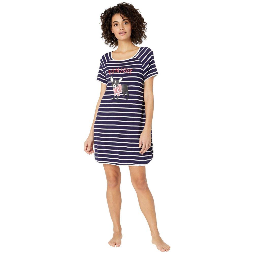 ケイト スペード Kate Spade New York レディース パジャマ・トップのみ インナー・下着【Jersey Knit Sleepshirt】Navy Stripe