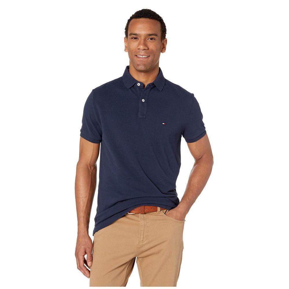 トミー ヒルフィガー Tommy Hilfiger メンズ ポロシャツ トップス【Ivy Polo Shirt Custom Fit】Navy Blazer