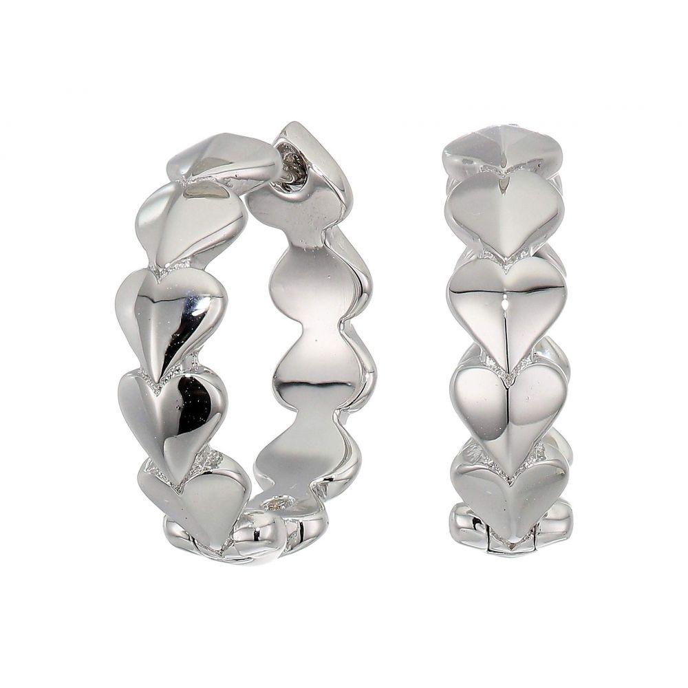 ケイト スペード Kate Spade New York レディース イヤリング・ピアス ハート ジュエリー・アクセサリー【Heritage Spade Metal Heart Huggies Earrings】Silver
