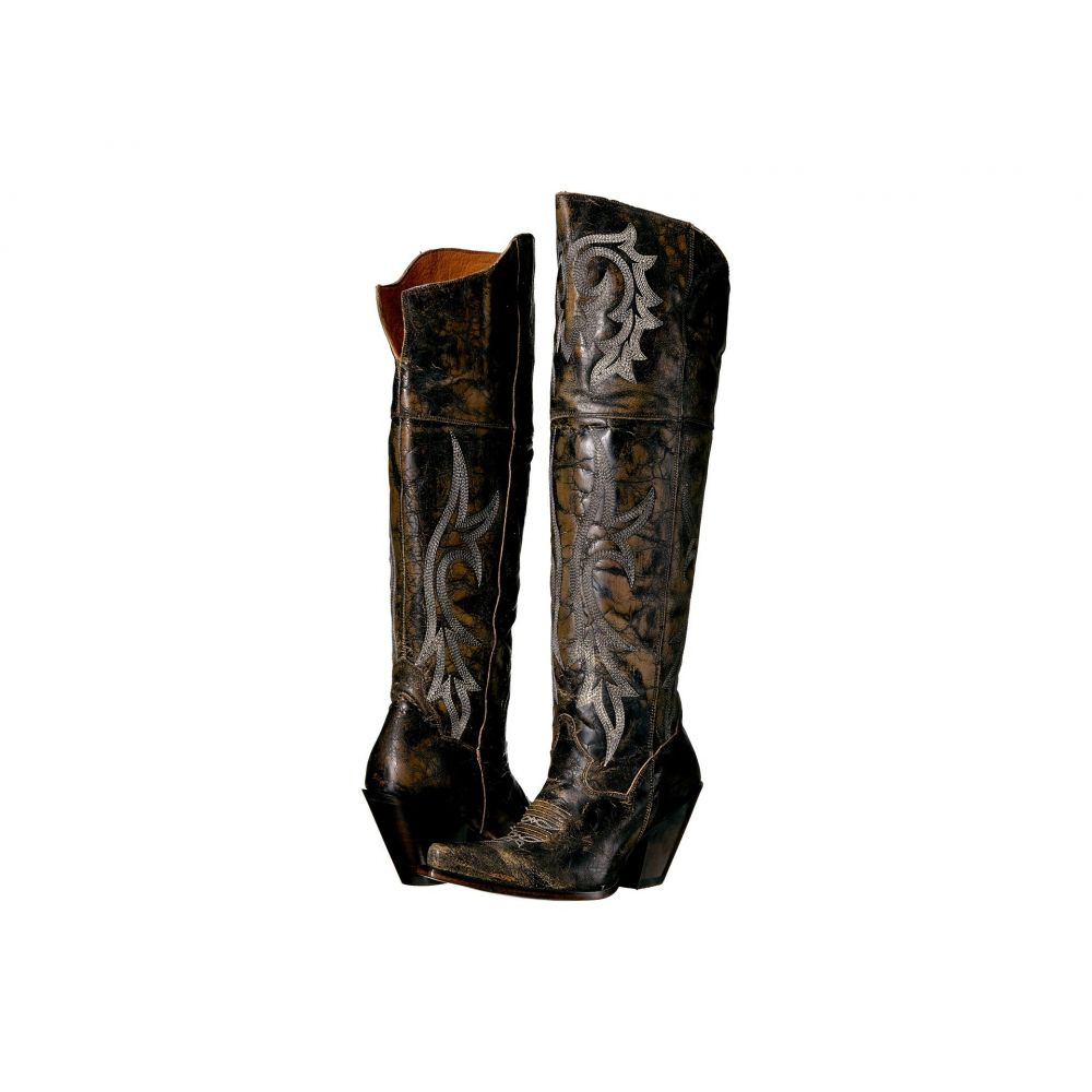 ダンポスト Dan Post レディース ブーツ シューズ・靴【Jilted】Black Distressed