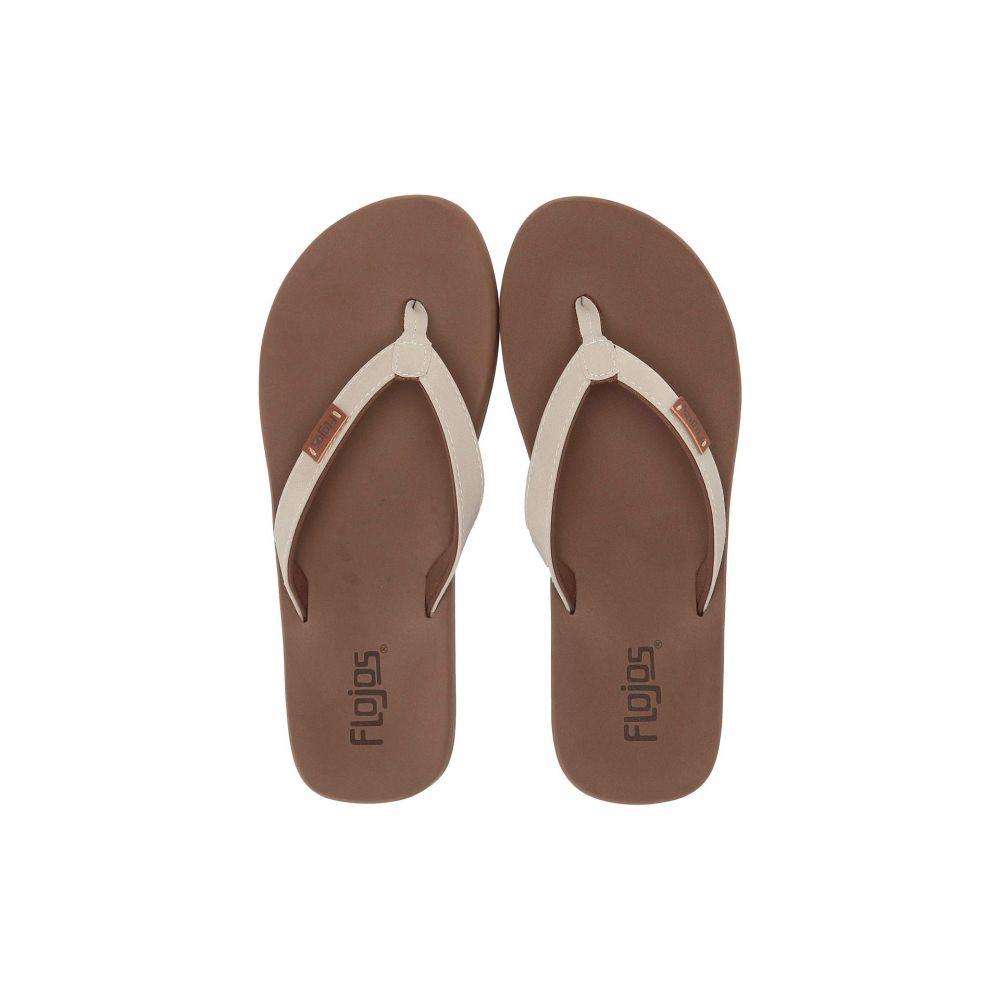 フロジョス Flojos レディース ビーチサンダル シューズ・靴【Billie】Off-White/Brown