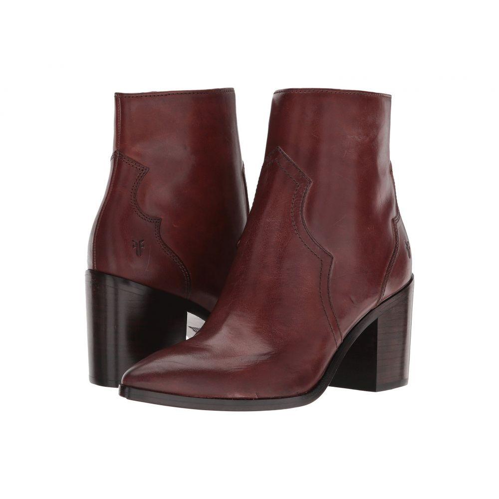 フライ Frye レディース ブーツ シューズ・靴【Flynn Short Inside Zip】Brown Antiqued Polished Leather
