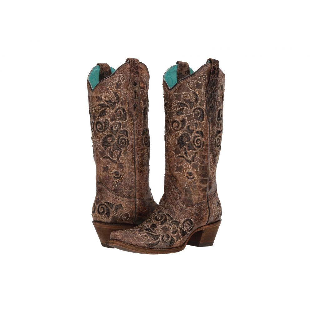 コラル Corral Boots レディース ブーツ シューズ・靴【A3228】Brown