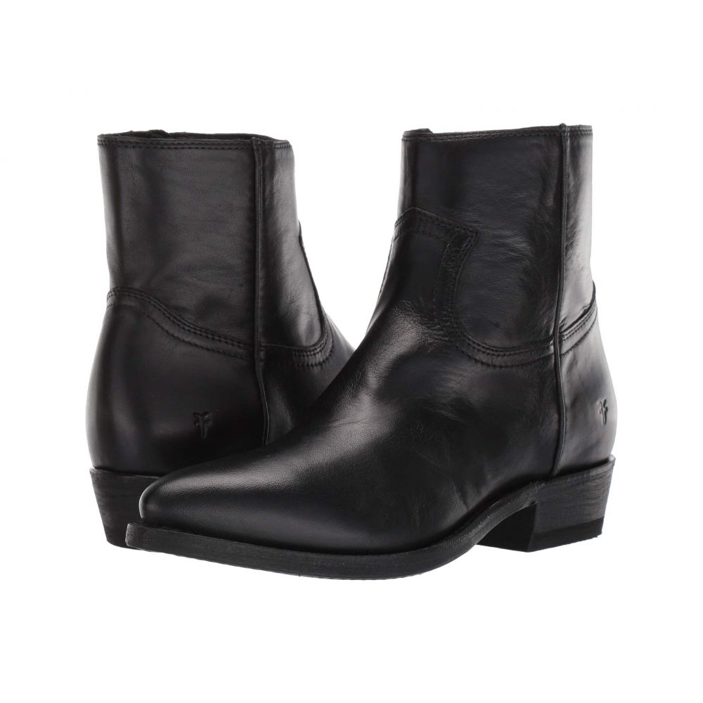 フライ Frye レディース ブーツ シューズ・靴【Billy Inside Zip Bootie】Black Soft Full Grain Leather