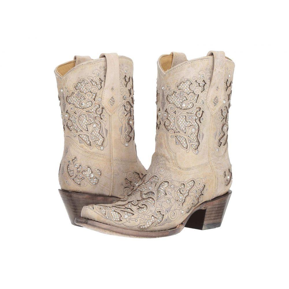 コラル Corral Boots レディース ブーツ シューズ・靴【A3550】White Glitter