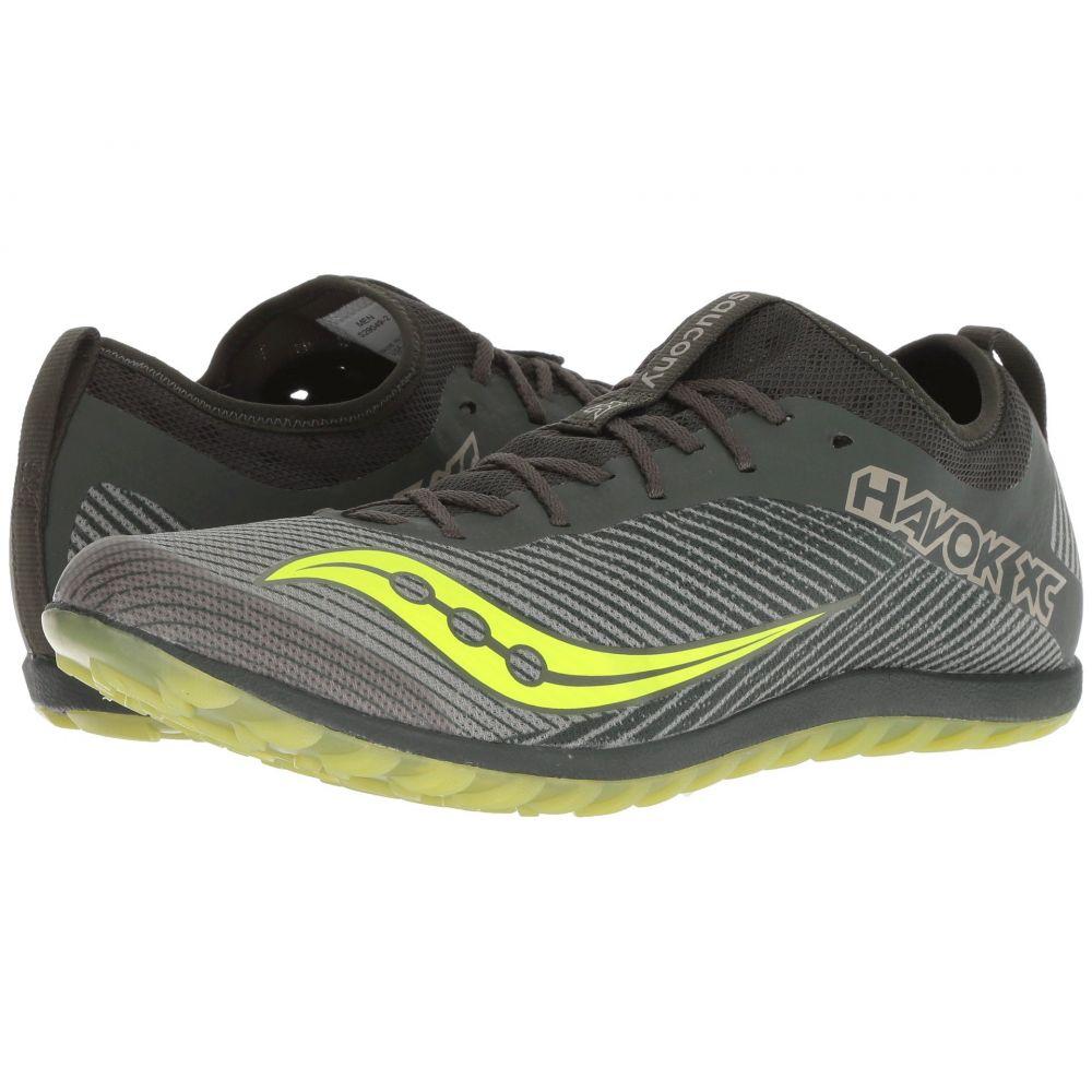 サッカニー Saucony メンズ ランニング・ウォーキング シューズ・靴【Havok XC2 Flat】Green/Citron